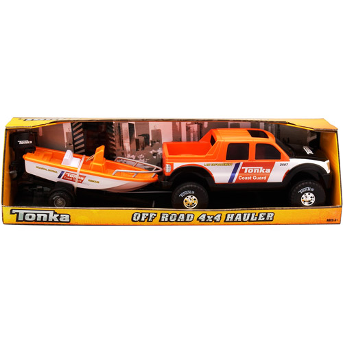 Tonka Off-Road 4x4 Hauler with Boat