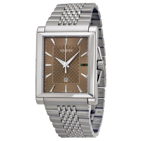 e0a10a6b7f6 Gucci - G-Timeless Medium YA138402 Silver Stainless Steel Men s Quartz Watch  - Walmart.com