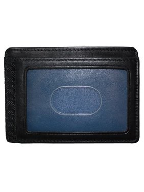 107-1002 Collins Calf Weekender Id Card Case In Black Leather With Cool