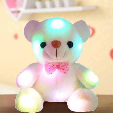 LED Teddy Bear Dolls Glow Doll Luminous Adorable Toys Doll children Gift(Say I love you)