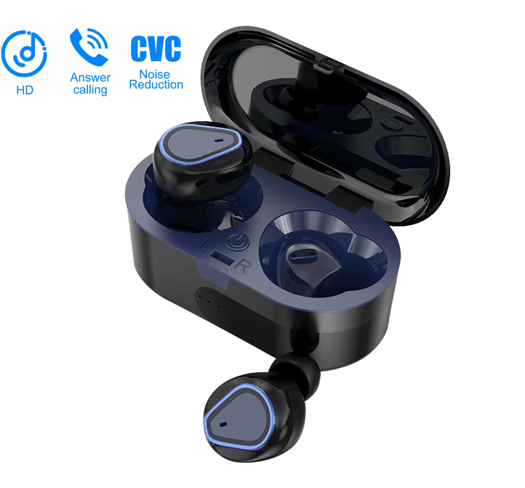 2020 Bluetooth 5 0 Headsets Tws Wireless Headphone Mini Earphones Stereo Earbuds In Ear Headphones With Built In Mic For Iphone Android Walmart Com Walmart Com