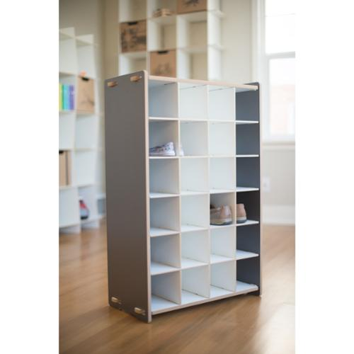 Sprout Children's Shoe Cubby Shelf Grey Kids Shoe Cubby Shelf