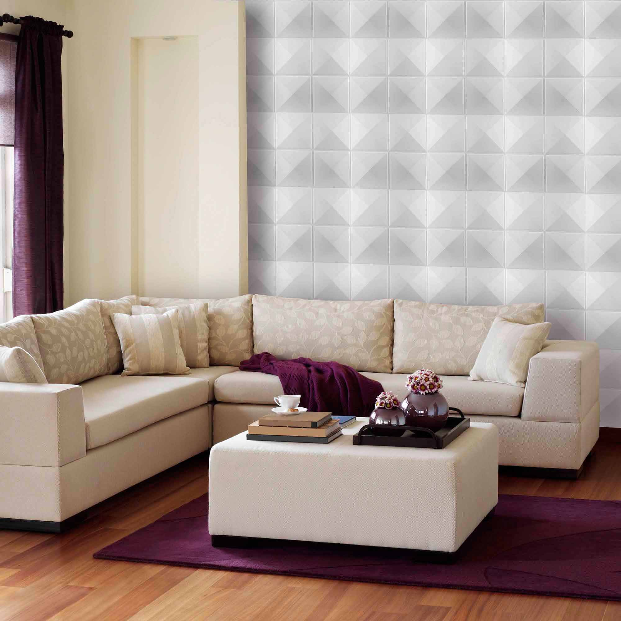 Donny Osmond Home 3D Self Adhesive Wall Tiles, Star - Walmart.com