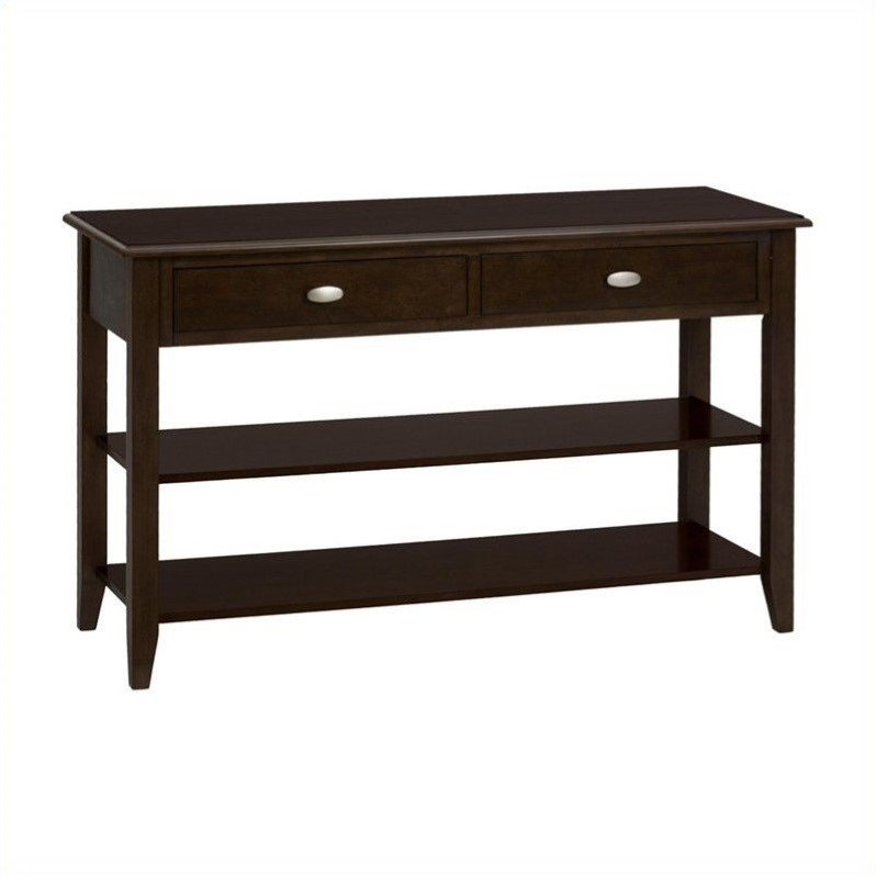 Jofran 1030 Series Media Table with Beveled Accents in Merlot by Jofran