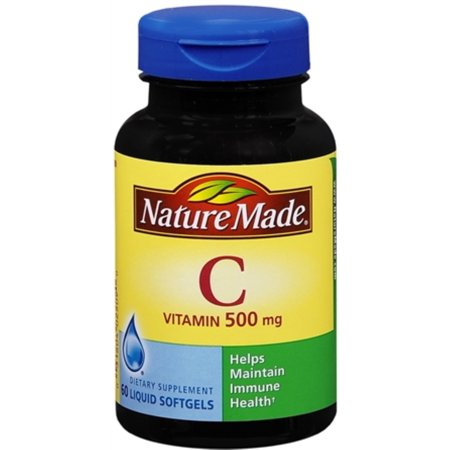 Vitamine C 500 mg Gélules liquides 60 gels mous
