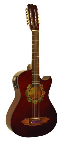 "Barraza Bajo Sexto Acoustic   Electric Guitar With 4 Band EQ plus 1 4"" & XLR Output... by Barraza"