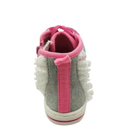 Disney Minnie Mouse Toddler Girls'Dotty High Top Sneaker