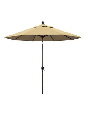 California Umbrella Pacific Trail Series Patio Market Umbrella in Pacifica with Aluminum Pole Aluminum Ribs Push Button Tilt Crank Lift