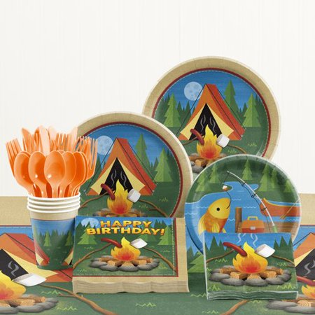 The Party Aisle 81 Piece Camping Party Decoration - Camping Decorations