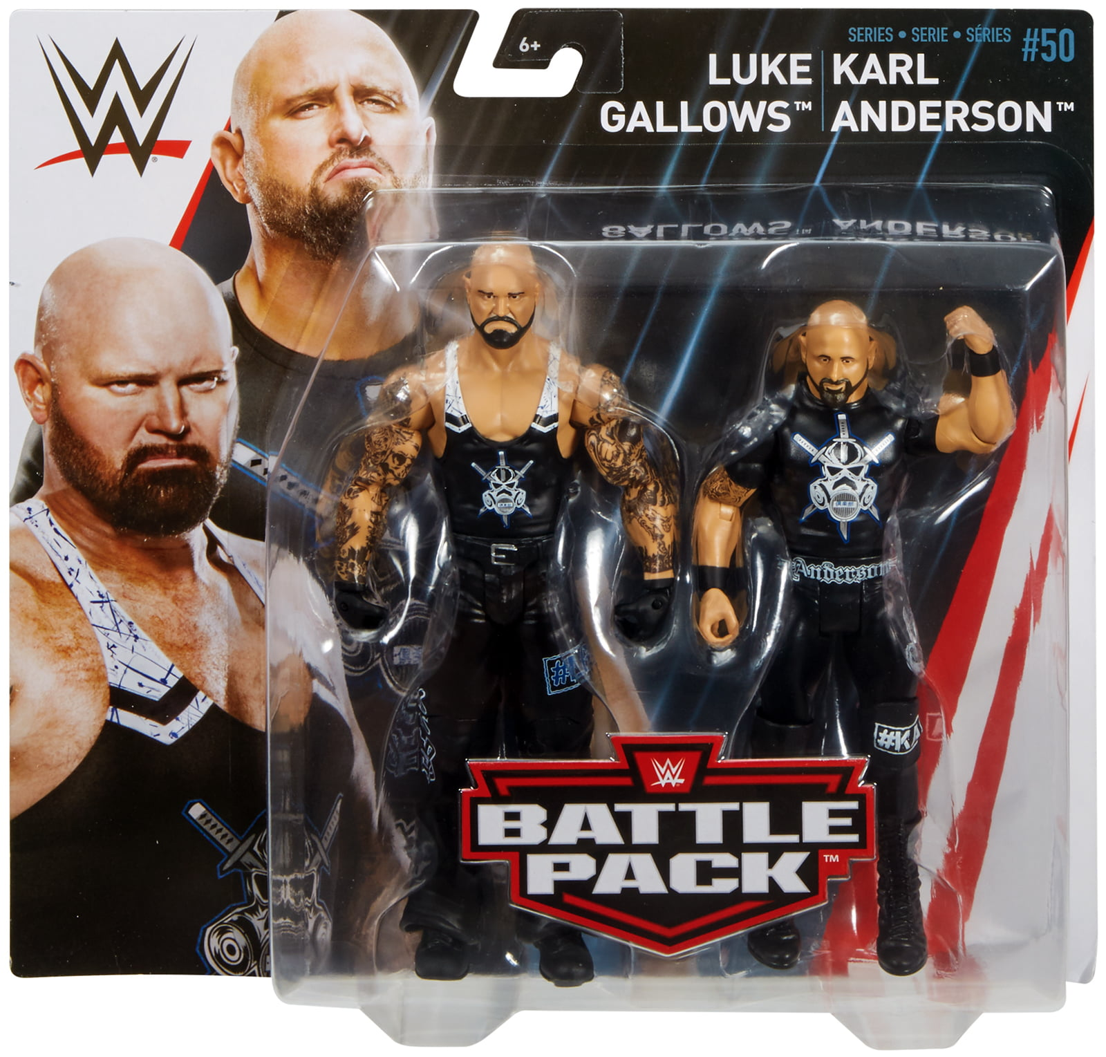 Karl Anderson & Luke Gallows WWE Battle Packs 50 Toy Wrestling Action Figures by Mattel