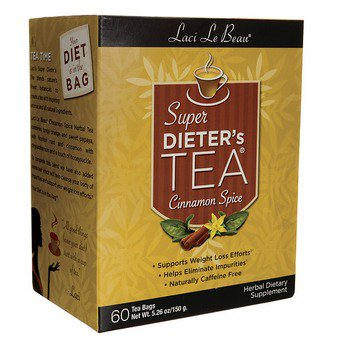Super Dieters Tea-Cinnamon Spice Laci Le Beau 60 Bag