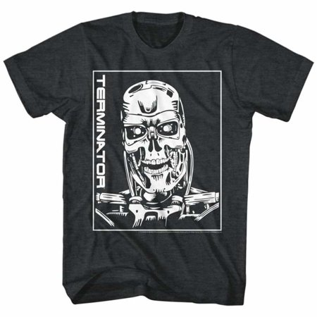 Terminator Movies Machine Skull Adult Short Sleeve T (1980's Costumes Ideas)
