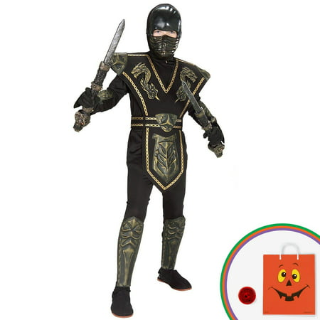 Ancient Dynasty Ninja Child Costume Kit with Free Gift (Ancient Druids Halloween)