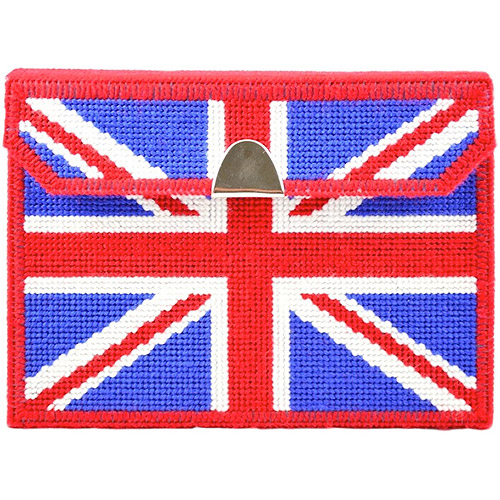 "Framous Kits Brit Fan Clutch Framous Plastic Canvas Kit-6.5""X8.6""X2"" 10 Count"
