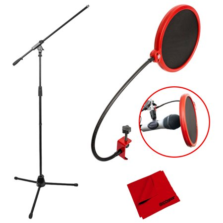 - Deco Mount Pro Tripod Microphone Stand with Boom Arm and Pop Filter Bundle