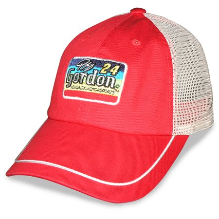 Jeff Gordon Team Hendrick 2015 Axalta Rainbow Patch Trucker Adjustable Cap - Red/White - OSFA