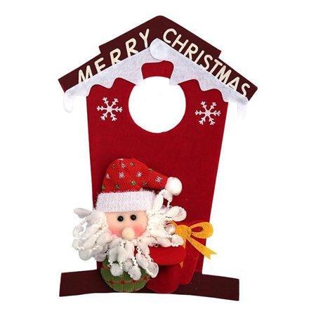 Christmas Door Hanger Snowman Santa Door Knob Hanger Christmas Door