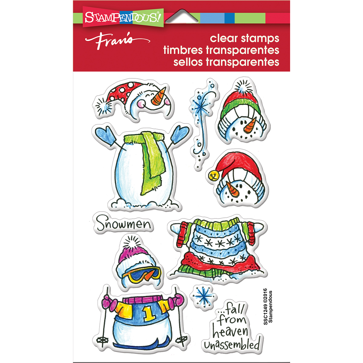 """NEW! Stampendous Perfectly Clear Stamps 4""""X6""""-Winter Stack"""