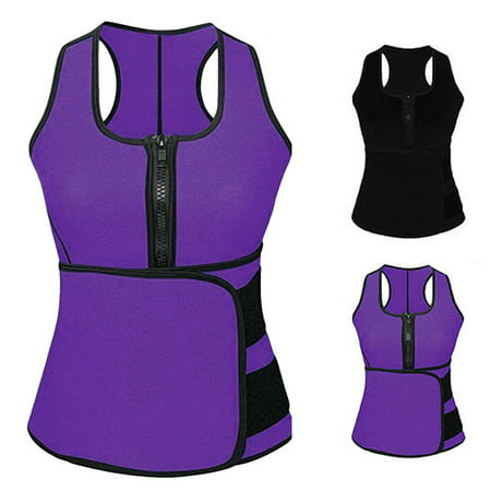 Senfloco Waist Trainer Vest for Women Gym Workout Sport with Adjustable Sauna Slimming Sweat Belt Body (Microfiber Shaper)