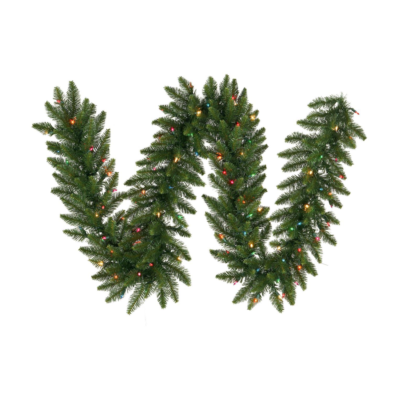 "9' x 16"" Pre-Lit Camdon Fir Artificial Christmas Garland - Multi LED Lights"