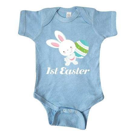 1st Easter White Bunny Infant Creeper (Easter Bunny Onesie)