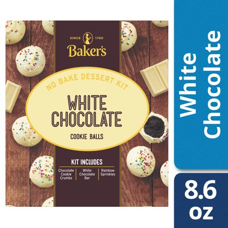Bakers White Chocolate No Bake Cookie Balls Dessert Kit 86 Oz Box