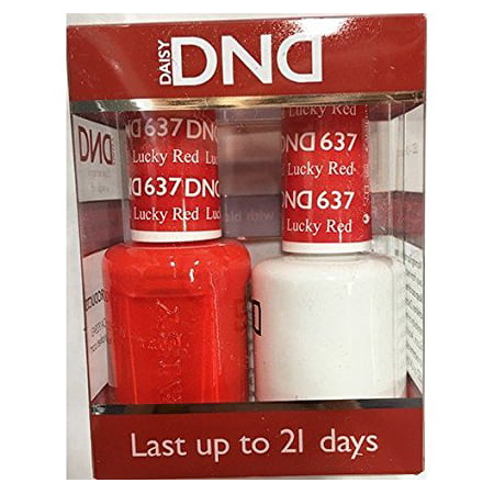 DND Nail Polish Gel & Matching Lacquer Set (637 - Lucky Red)
