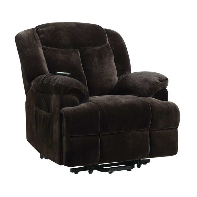 Walmart Furniture Online Shopping: Bowery Hill Power Lift Recliner In Chocolate