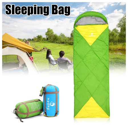 Sleeping Bag 300D nylon Outdoor Camping Hiking Envelope Sleeping Bag Folding Carrying Slumber Bag 2 Person Joinable design Portable For Outdoor Camping Tent ()