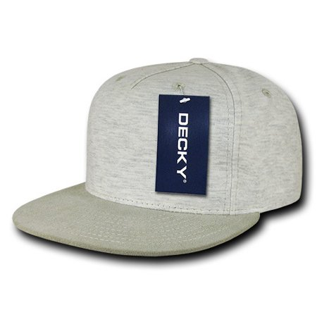 63deba6e1df decky 1132-crm 5 panel heather jersey knit cap - cream - Walmart.com