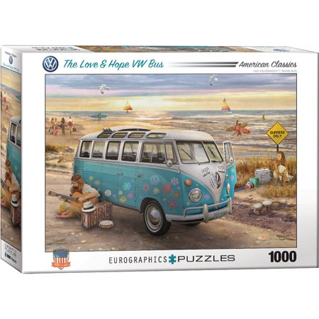 the love hope vw bus 1000 piece puzzle. Black Bedroom Furniture Sets. Home Design Ideas