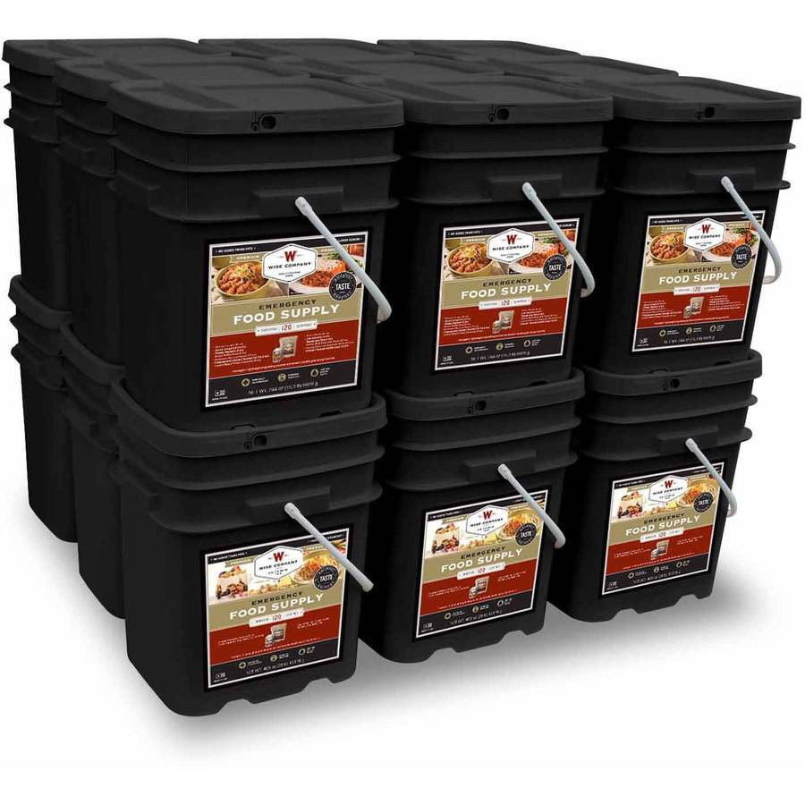 Wise 2160 Serving Package of Long Term Emergency Food Supply. 6 Month Supply for 4 Adults (3 Servings Daily)