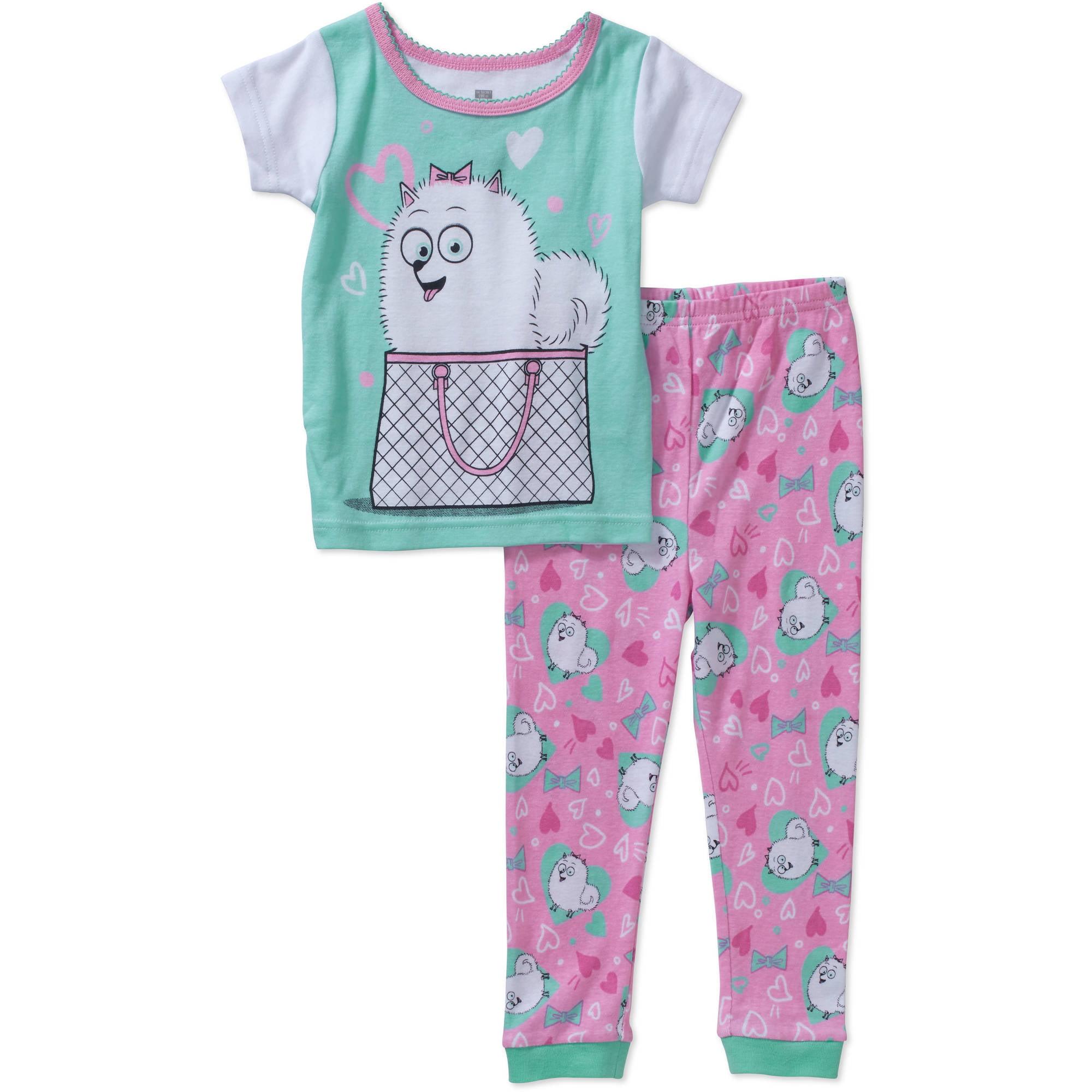 The Secret Life Of Pets Toddler Girls' Licensed Cotton Pajama Sleepwear Set