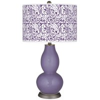 Color + Plus Purple Haze Gardenia Double Gourd Table Lamp