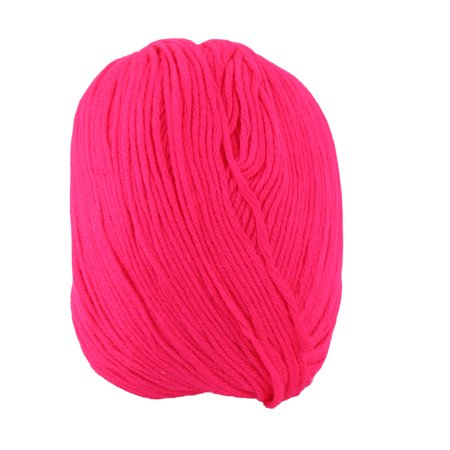 Fuchsia Crochet - Lady Sweater Scarf Gloves Crochet Hand Knitting Weaving Yarn Cord Fuchsia 50g