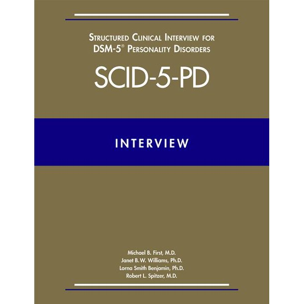 Structured Clinical Interview for Dsm-5(r) Personality ...