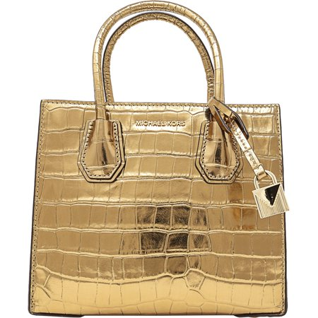 Michael Kors Women's Medium Mercer Crocodile Messenger Leather Top-Handle Bag -