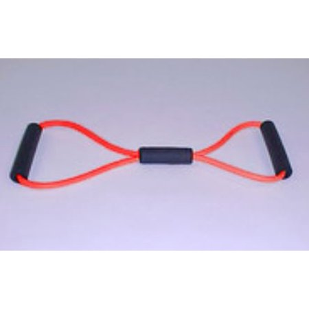 Stretch Resistance Figure 8 Exercise Tube Medium Red - Micro Fur Stretch Tube