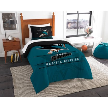 San Jose Sharks The Northwest Company NHL Draft Twin Comforter Set