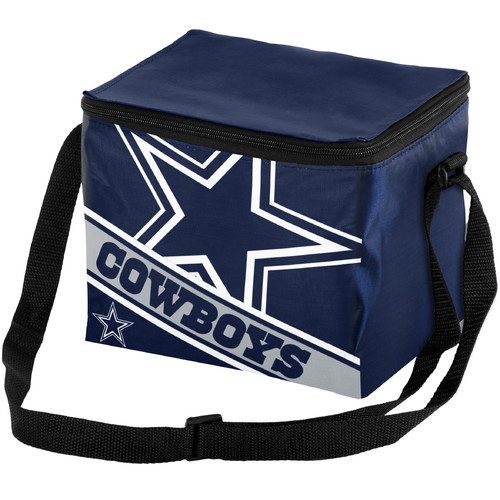 Forever Collectibles Big Logo Stripe 6 Pack Cooler, Dallas Cowboys