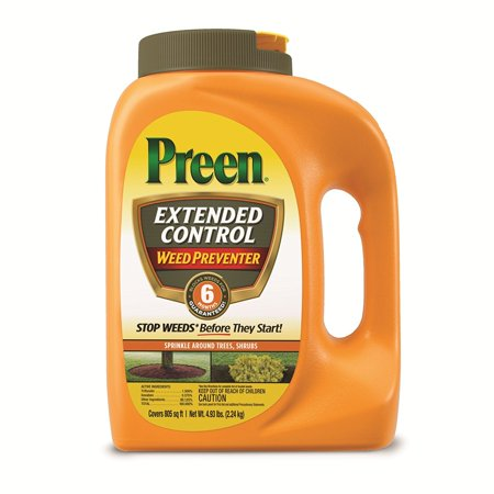 Preen Extended Control Weed Preventer 4.93 lb, covers 805 sq