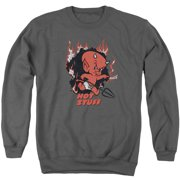 Hot Stuff Singe Mens Crewneck Sweatshirt