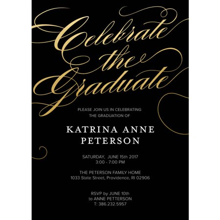 Classic Script Graduation Invitation](Train Invitations)