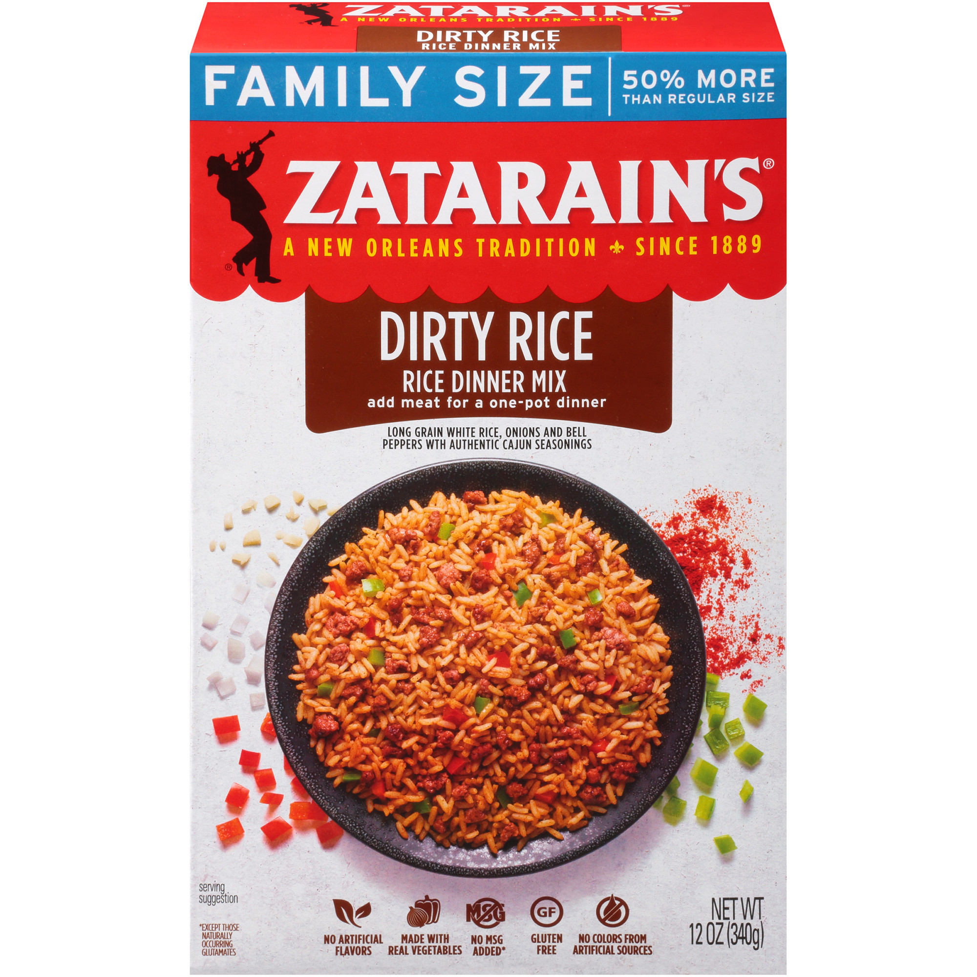 Zatarain's Dirty Rice Family Size, 12 oz