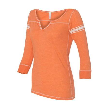 MV Sport Women's Hailey Henley Three-Quarter Sleeve Shirt