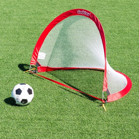 Set of 2 Portable 4' Pop-Up Soccer Goals Set Backyard w/ Carrying Bag 6 Cones - image 6 of 7