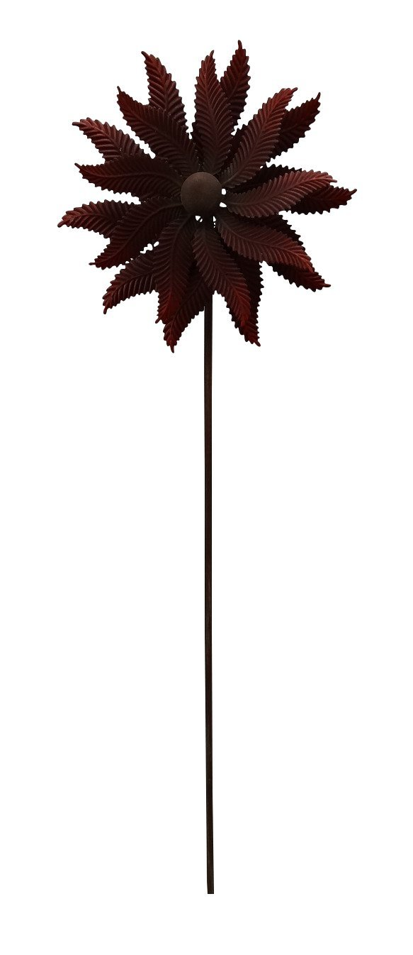 72 In Red Flower Windmill Stake by Benzara