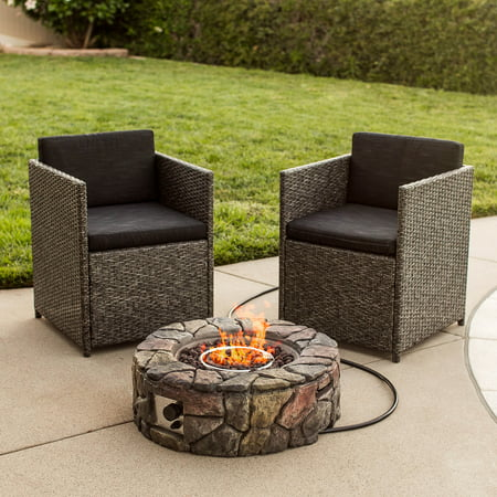BCP Stone Design Fire Pit Outdoor Home Patio Gas Firepit - BCP Stone Design Fire Pit Outdoor Home Patio Gas Firepit - Walmart.com