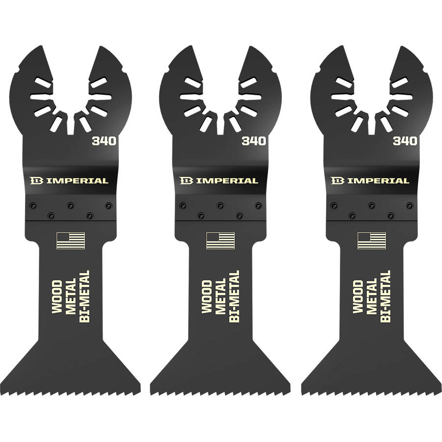 "Imperial Blades IBOA340-3 ONE FIT 1-3/4"" Metal/Wood Oscillating Saw Blade, Multi-Tool Accessory, 3PK"