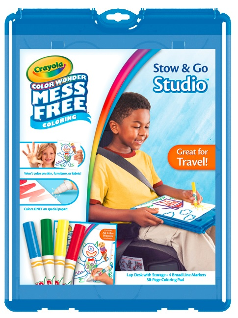 Crayola Color Wonder Stow and Go, 30pg Coloring Pad, 4 Color Wonder Markers, 1 Lap Desk w... by Crayola